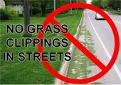 No Grass Clippings in Street