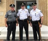 Deputy Chief Morris, Retired Chief of Police Mabry and Chief of Police Kelly