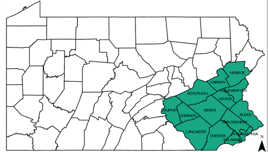 Current PA Quarantine Map