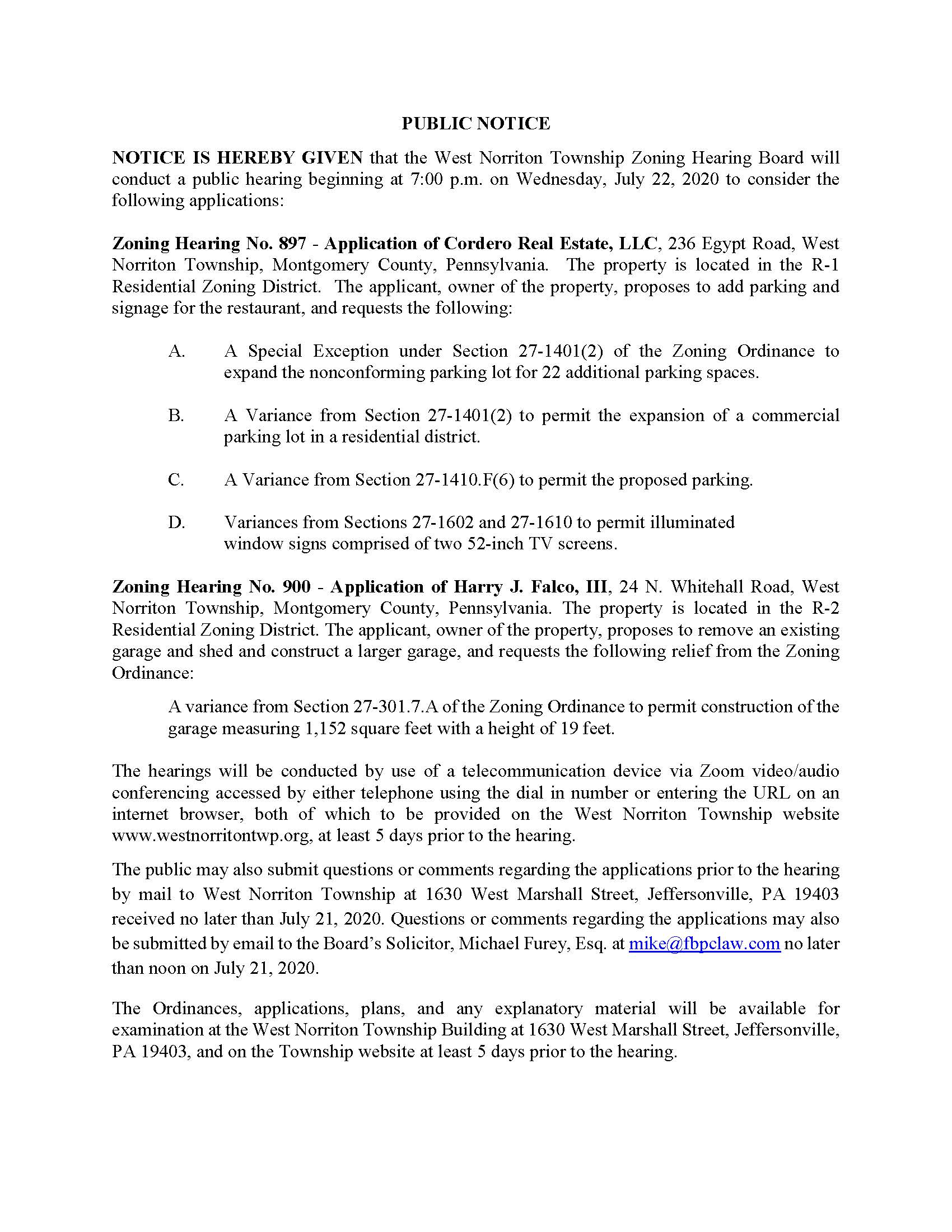 ZHB Hearing Notice July 22 Nos 897 and 900 PDF_Page_1