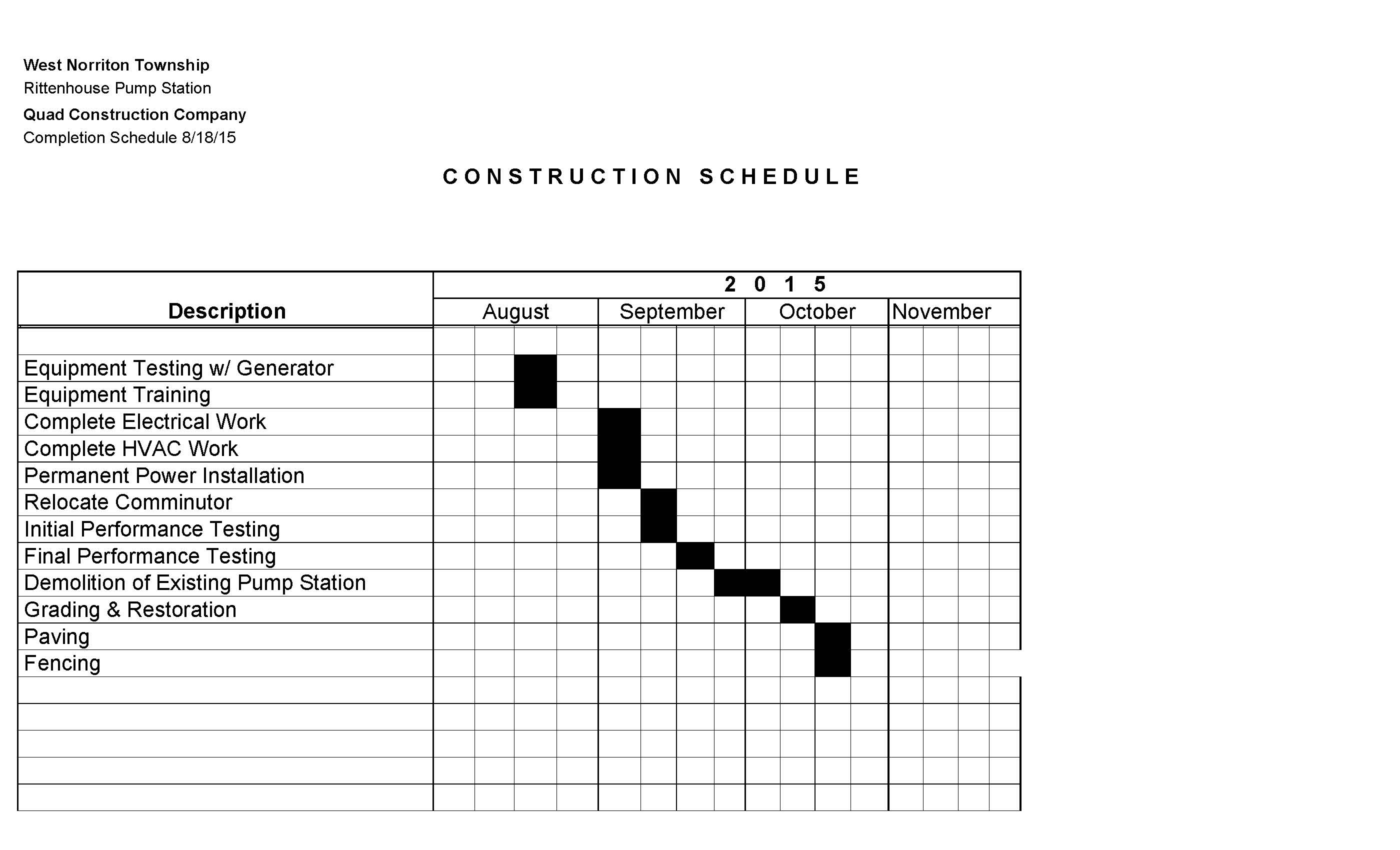 Copy of Completion Schedule
